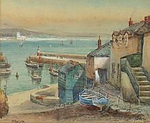 "* Thomas Herbert VICTOR  (1894-1980)  Watercolour  Signed and inscribed 'Newlyn'  6.5"" x 8.25"" (15cm x 21.6cm) GBP"