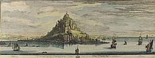 "Samuel BUCK (1696-1779) & Nathaniel BUCK (d.1777)  Black & white engraving  'The Southwest Prospect of St Michael's Mount in Cornwall'  Inscribed and dated 1799  21.5"" x 32.75""(54.6cm x 83.2cm) GBP"