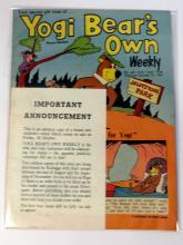 Yogi Bear's Own Weekly 1962, rare advance copy