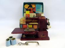 Vulcan Childs Sewing Machine in original box 1950s