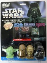 Topps Star Wars Candy Containers and cards, signed
