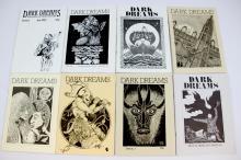 Collection of 8 Sci Fi Dark Dreams Fanzines