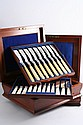 A VICTORIAN CASED SET OF TWENTY FOUR PAIRS OF