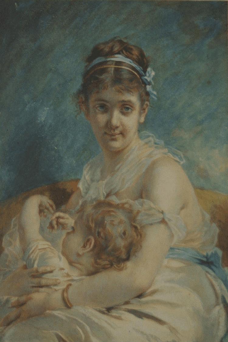 CHARLES CHAPLIN (1825-1891) LA MATERNITE