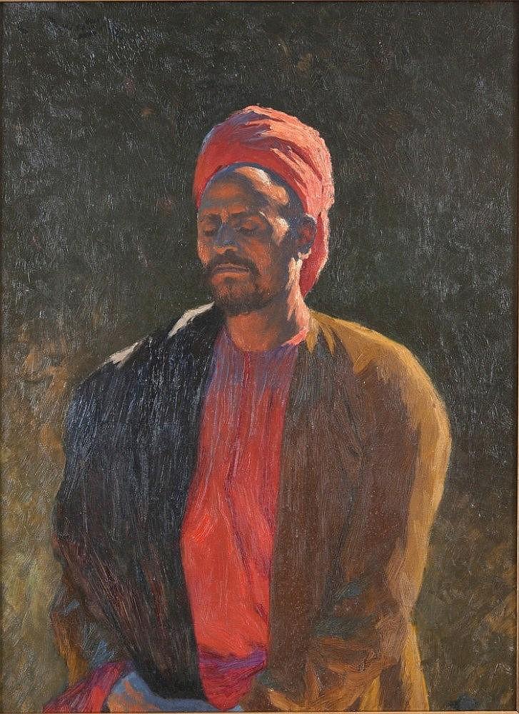 LUDWIG DEUTSCH (1855-1935) THE HOUR OF PRAYER