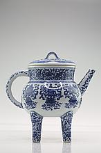 Chinese Porcelain Blue and White Covered Censer