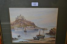 T.H. Victor, watercolour, view at St. Michael's