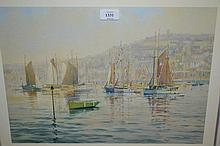 Artist signed Limited Edition coloured print, '