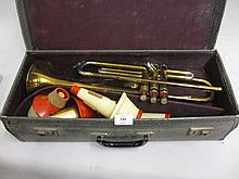 Cased trumpet by Boosey & Hawkes, London