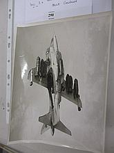 Folio containing a small quantity of press photographs of R.A.F. Hawker Siddeley Harrier, 1960's and '70's