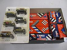 Quantity of boxed Corgi die-cast metal model vehicles, together with six other vehicles