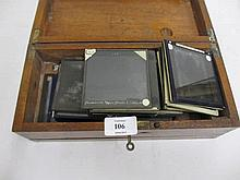 Small collection of glass magic lantern slides