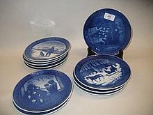Quantity of Royal Copenhagen Christmas plates