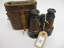 Pair of Dollond of London field binoculars in case