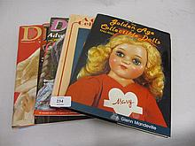 Quantity of various doll related books and magazines