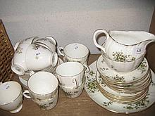 Royal Worcester Clementine twenty one piece tea service together with a Queen Anne fifteen piece part tea service