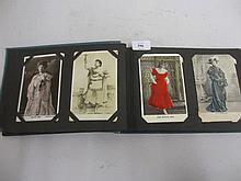 Album containing a collection of cinema and theatre postcards