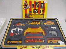 Corgi Jean Richard circus set in original box, No. 48 together with a smaller circus set by Verem, No. 953