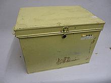 Cream painted metal deed box