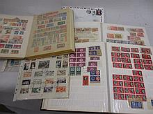 Collection of World stamps in albums together with a quantity of First Day covers and pre-decimal postage stamp booklets