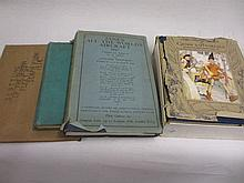 Early 20th Century volume containing a quantity of photographs inscribed ' Scuttling of the German Fleet at Scapa Flow 1919 ', one volume 1940 Janes ' All the Worlds Aircraft ', one volume 1940's ' Boys Own Annual ' and a childrens story book ' The