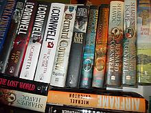 One box of modern First Editions consisting mainly of Patricia Cornwell and Bernard Cornwell (twenty volumes)