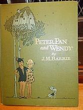 ' Peter Pan and Wendy ' by J.M. Barrie, illustrated by Mabel Lucy Attwell, printed by Charles Scribners and Sons, New York 1921