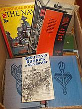 Box containing a quantity of various World War II related books