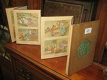 Chinese concertina action book with painted engraved illustrations and English text