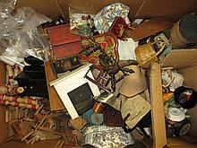 Box containing a large quantity of 19th / 20th Century dolls house furniture