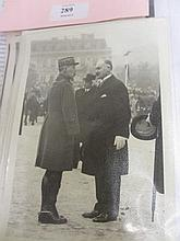 Small folio containing press photographs of the French President Albert Francois Lebrun, 1932 - '40
