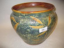 Large Royal Doulton stoneware naturalistic foliage pattern jardiniere