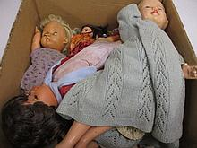 Mid 20th Century composition doll and various other dolls