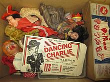 Quantity of puppets, dolls and boxed childrens games