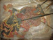 Collection of antique Javanese Shadow puppets