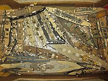 Collection of wooden models of battleships