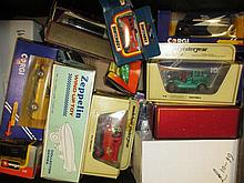 Collection of boxed die-cast model vehicles housed in two boxes