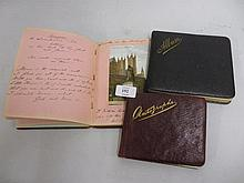Group of three early 20th Century autograph and sketch books