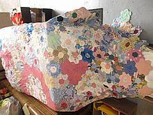 20th Century patchwork double quilt