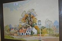 Sidney Vale, watercolour, a country landscape, signed, framed