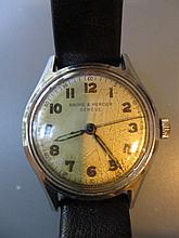 Baume and Mercier, stainless steel cased wristwatch with centre seconds