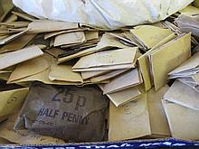 Box containing a large quantity of British and World pre-decimal and later coinage