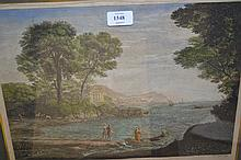 Pair of 19th Century coloured engravings by Canot after Lorraine