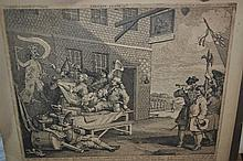 Folio containing a collection of 18th and 19th Century engravings and etchings etc