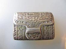 George III Birmingham silver vinaigrette by Samuel Pemberton in the form of a purse