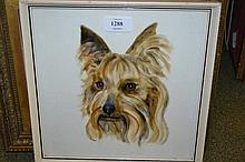 David Gee, signed watercolour, portrait of a dog, together with a drawing, portrait of two dogs, signed Leigh-Hunt