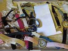Collection of various modern costume watches