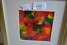 Jennifer Thorneley, a group of three framed abstract studies