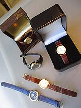 Gentleman's steel cased Longines wristwatch in original box together with various other modern wristwatches
