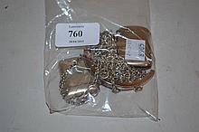 Samuel Pemberton Birmingham silver chain mesh purse, together with two silver Vesta cases